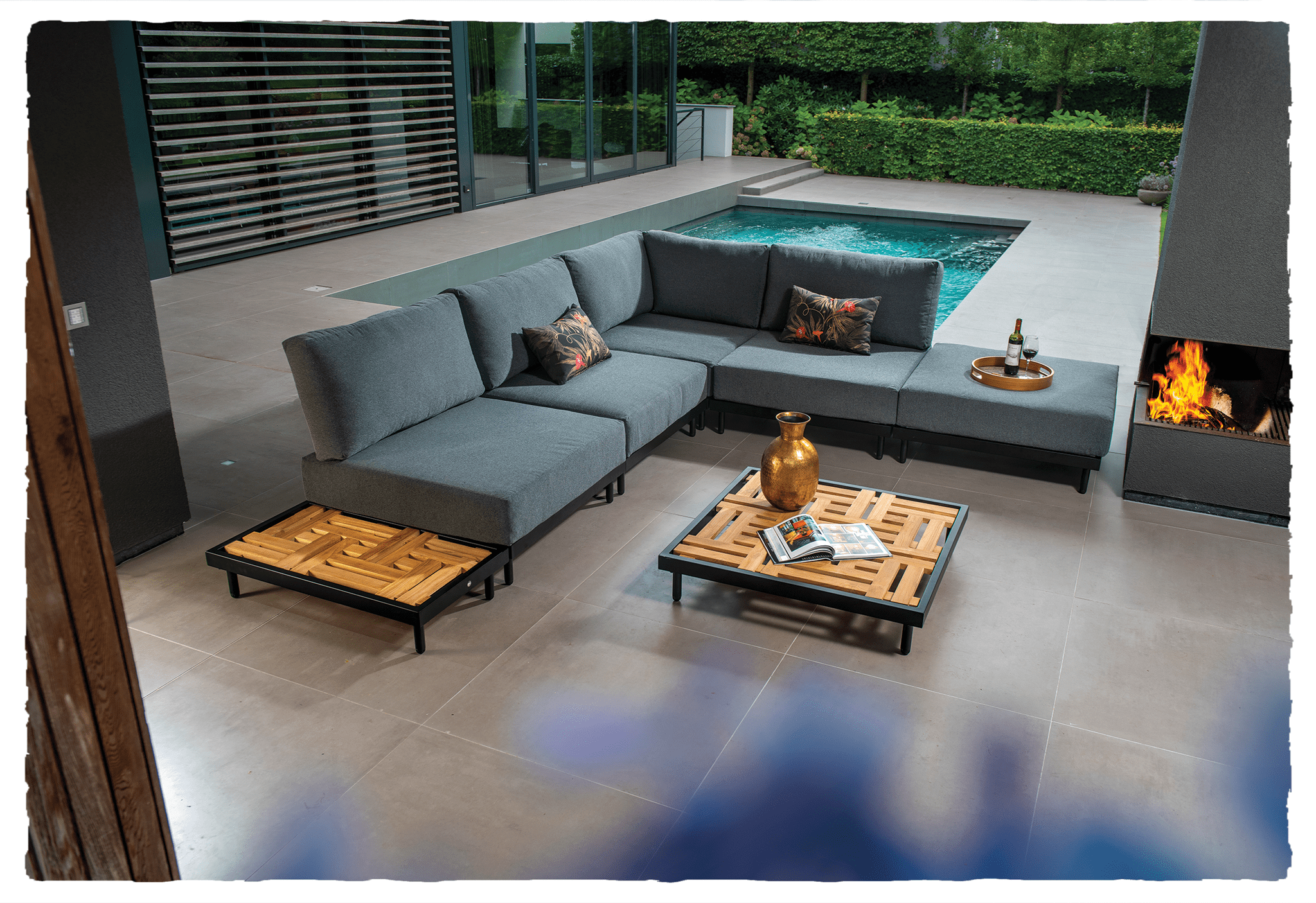 Natsu lounge set with coffee table - ripped | Yoi Furniture