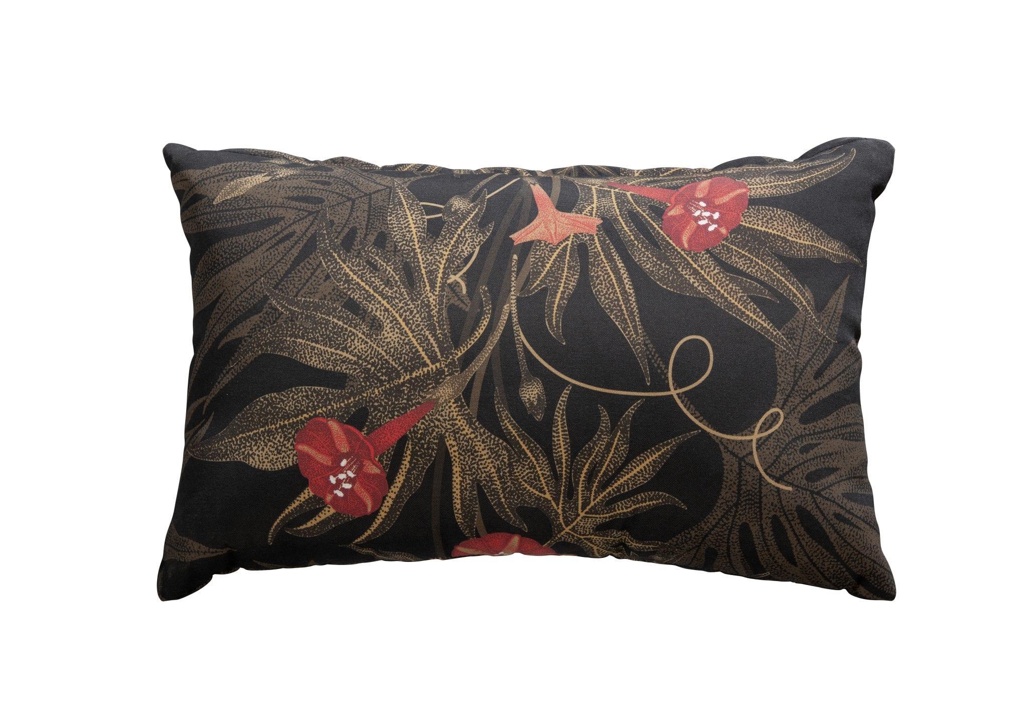 Decorative cushion 60x40 - red flowers | Yoi Furniture