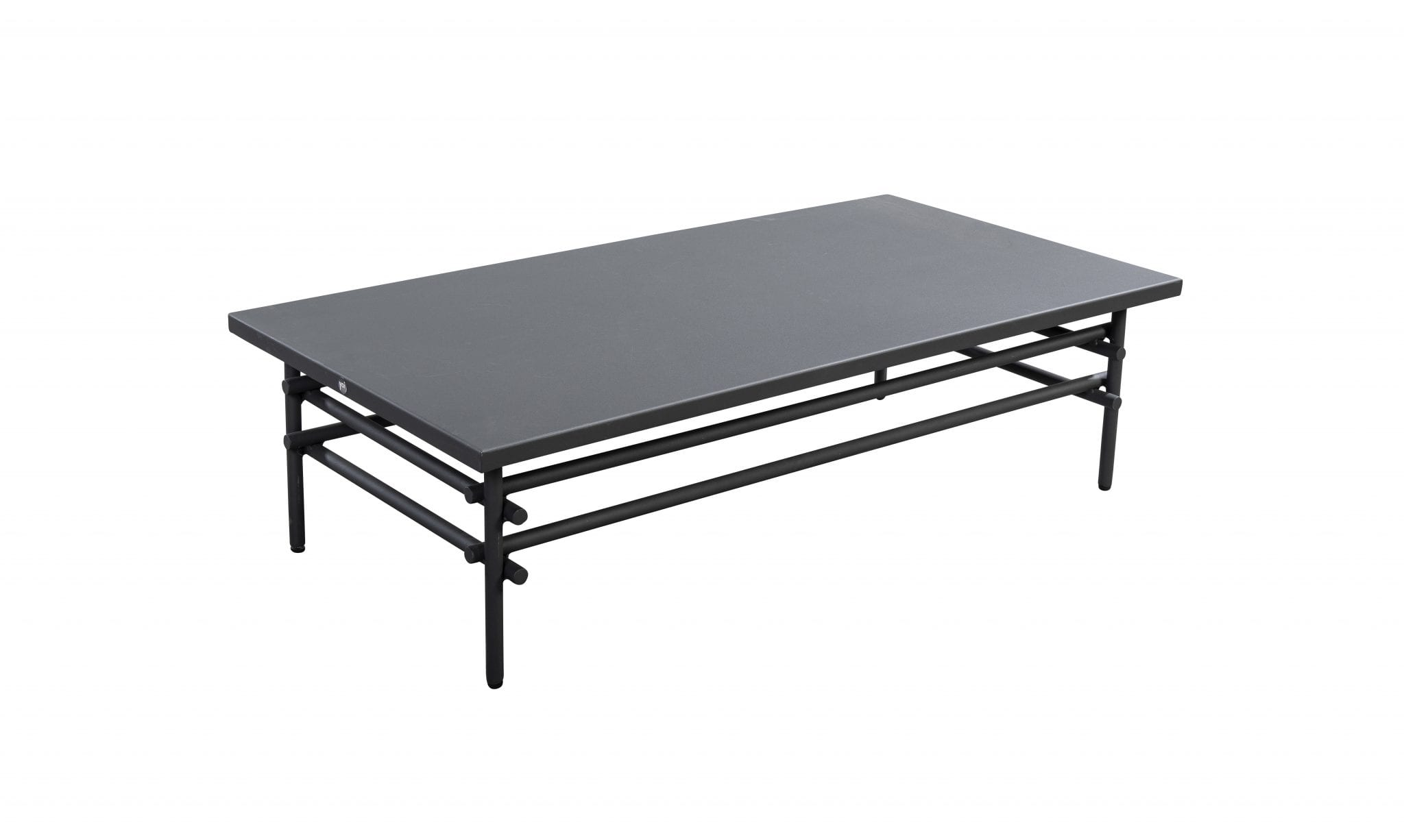 Ki 125x60 aluminium coffee table - dark grey | Yoi Furniture