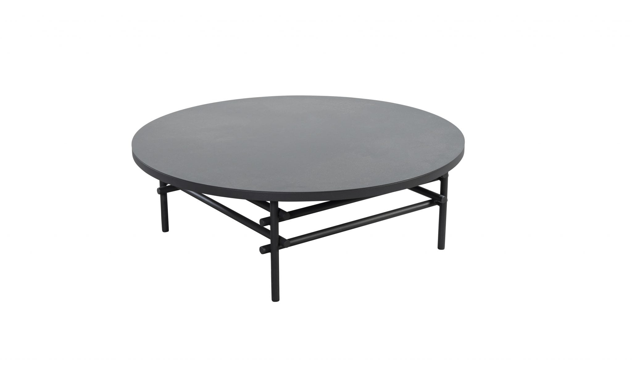 Ki 100 aluminium round coffee table - dark grey | Yoi Furniture