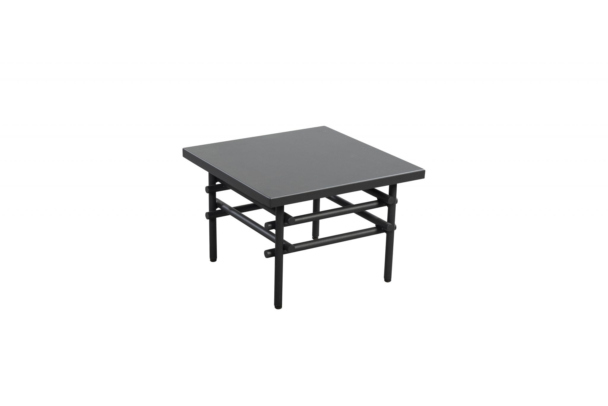 Ki 50x50 aluminium side table - dark grey | Yoi Furniture