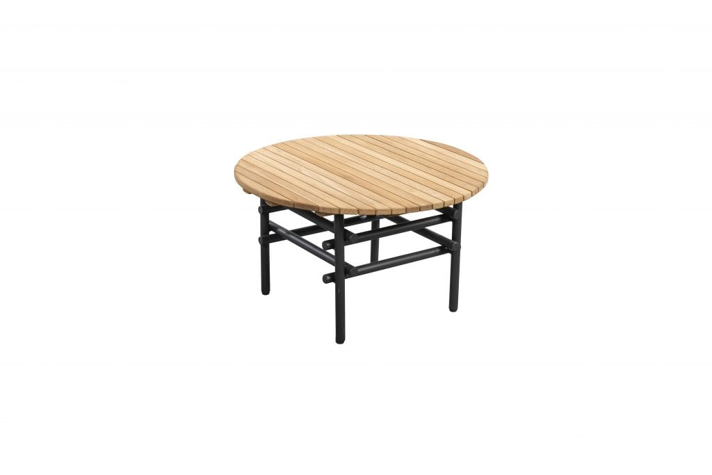 Ki side table grey + teak | YOI Furniture
