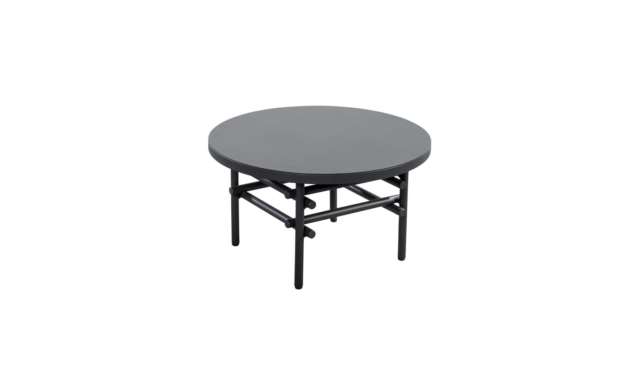 Ki 60 aluminium round side table - dark grey | Yoi Furniture
