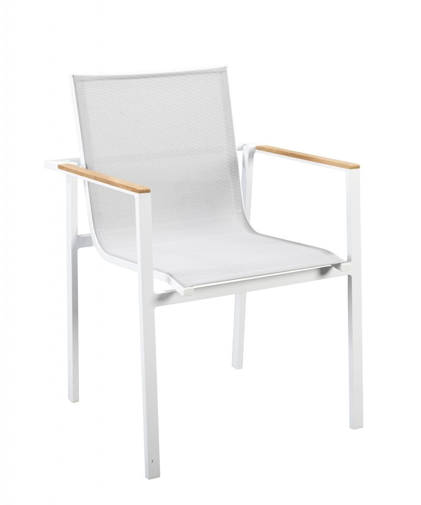 Mizu stackable dining chair - white | Yoi Furniture
