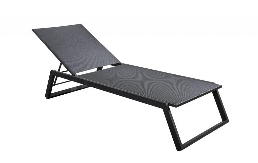 Mizu stackable lounger - black | Yoi Furniture