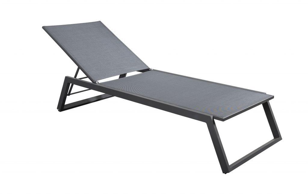 Mizu stackable lounger - carbone | Yoi Furniture