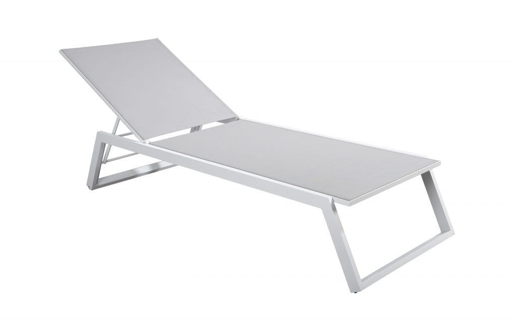 Mizu stackable lounger - white | Yoi Furniture
