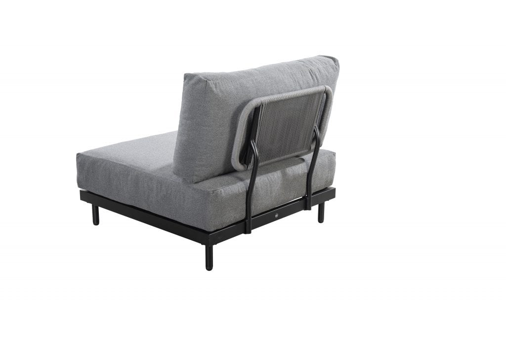 Natsu lounge chair backside - black | Yoi Furniture