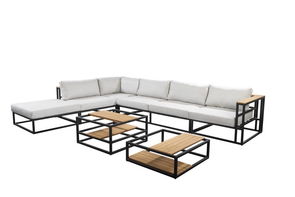 Sora corner set - black | Yoi Furniture