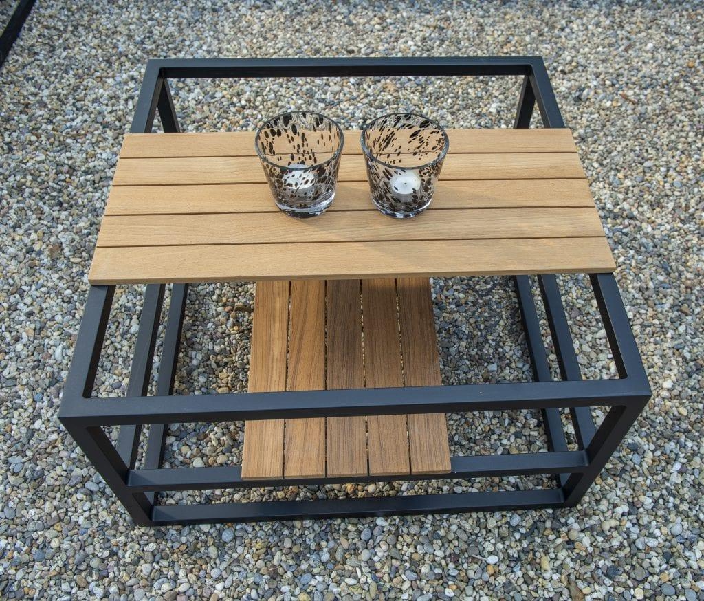 Sora salontafel teak + zwart frame | YOI Furniture