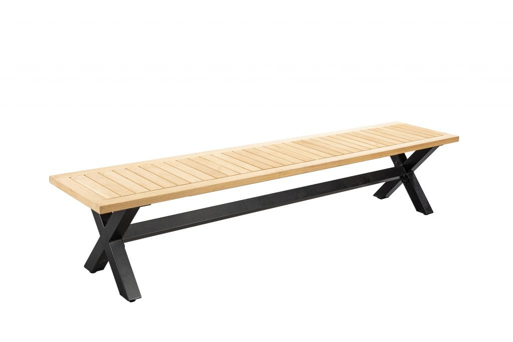 Wakai 217x45 bench - black | Yoi Furniture