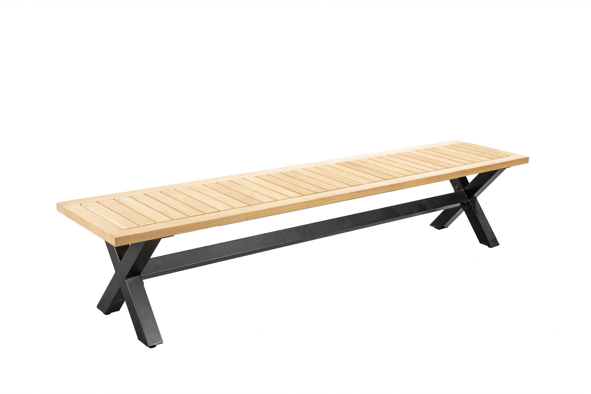 Wakai 217x45 bench - dark grey | Yoi Furniture