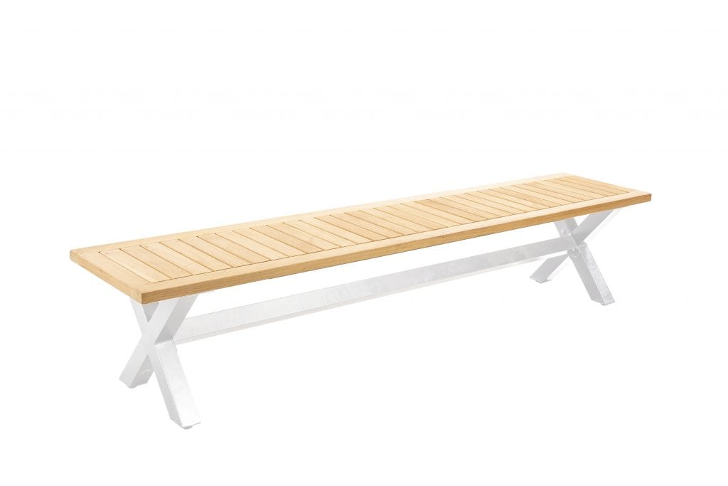 Wakai 217x45 bench - white | Yoi Furniture