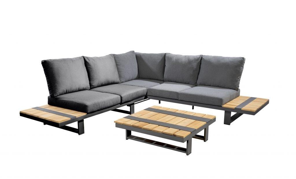 Yuwaa corner set XL - dark grey | Yoi Furniture