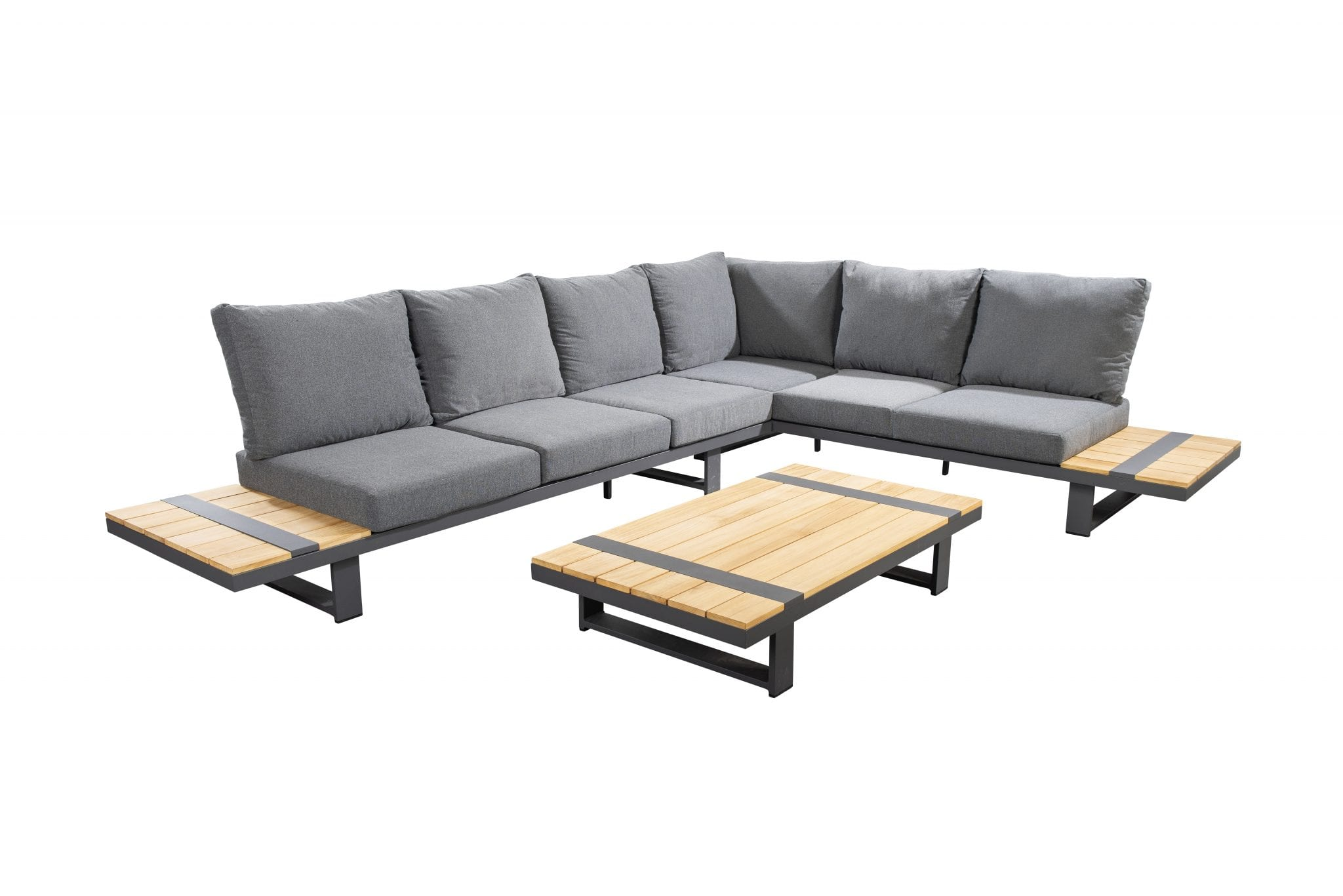 Yuwaa corner set - dark grey | Yoi Furniture
